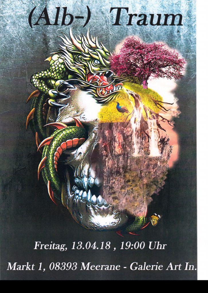 """Plakat Schülerausstellung """"(Alb-) Traum"""""""